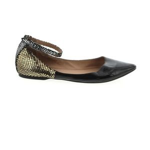 BCBGeneration Black Gold Python Flats Pointed Toe